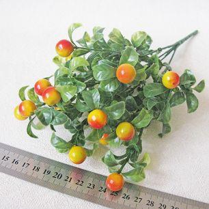 Букет брусничник (красно-желтые ягоды, зеленые листья)