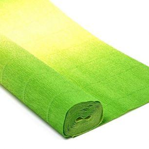 50х50см - №600/5 Гофр.бумага с переходом (желто-зеленый)