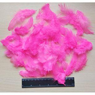 60шт Перья розовые (6-11см)