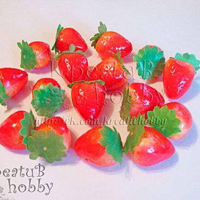 Клубника-декор 3см (муляж фруктов)